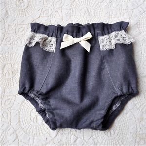Other - Denim & Lace handmade bloomers